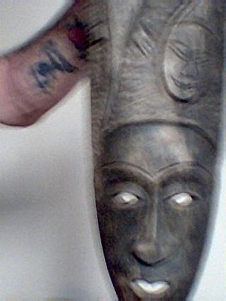 Ceremonial Mask, Signed, OLD! LOWERED START BID!!