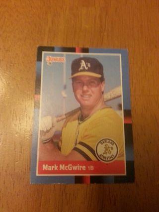 Free 1988 Mark Mcgwire Baseball Card Sports Trading Cards
