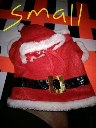 Doggie Santa Claus Suit Size Small