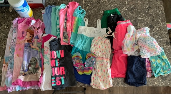 Girls lot of clothing 5t for spring & summer