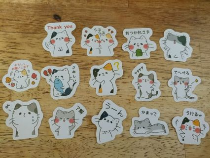 Cats Flake Stickers Set #2 (✿❛◡❛) Last One