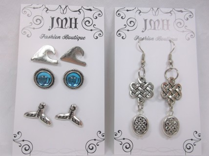 Combo Set - Beachy & Celtic Dangley Earrings