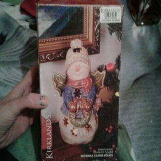 Snowman Tealight Candle Holder