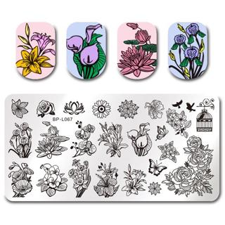 BORN PRETTY Nail Stamping Plates Animal Series Cute Cats Plant Nail Art Stamp Image Template Manic