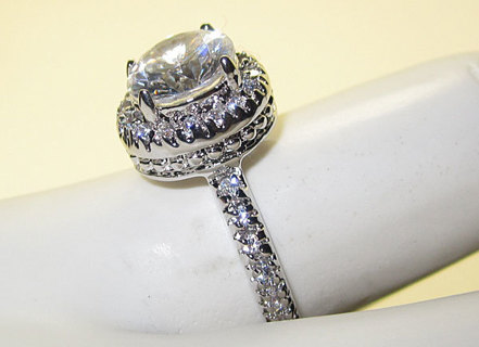 CLASSIC WHITE GOLD RING NEW SELECT SIZE QUALITY JEWELRY!!!