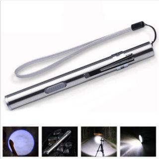Waterproof Pocket LED Flashlight USB Rechargeable LED Torch Mini Penlight Lamp