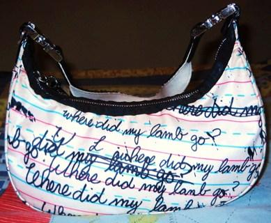 2bb2c1566a L.a.m.b gwen stefani lesportsac mini hobo bag 100% authentic! PENMANSHIP  WHERE LAMB GO!