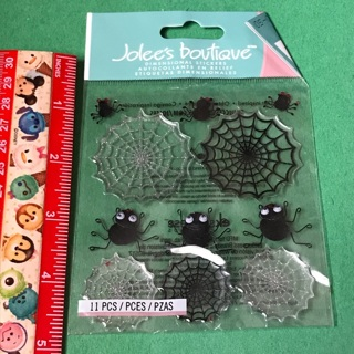 Jolees boutique spiders and webs dimensional sticker sheet NEW