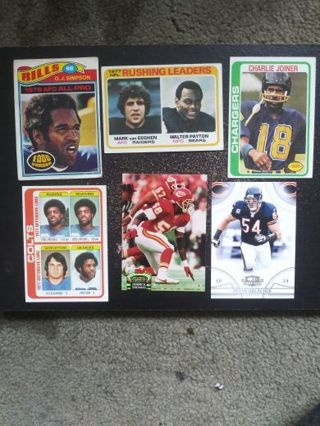 70's NFL HOF lot of 6 (O.J., Payton, Joiner, Mitchell, Thomas, Urlacher)