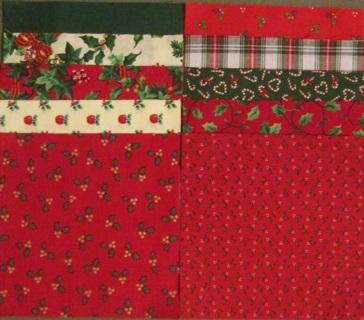 40 Fabric Charm Squares - Christmas