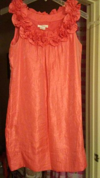 Lovely Bright Orange Color Dress by London Times size 10