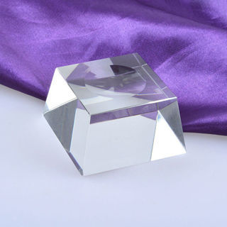 2x Square Dimple Blocks Crystal Ball Display Stand Holder For Galss Sphere Stones