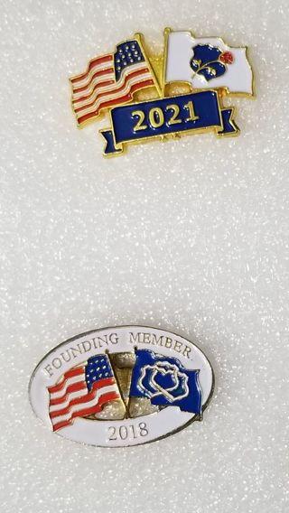 2 American Flag Pins