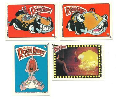 1987 Topps Who framed Roger Rabbit - 4 Stickers
