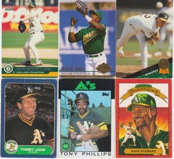 Older Baseball Card Lot - Oakland A's Athletics