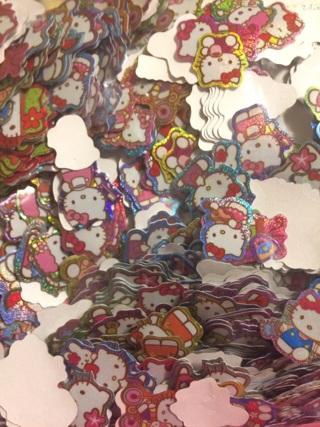 Kawaii Hello Kitty and My Melody sticker flakes