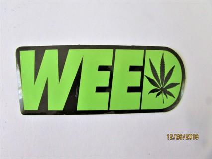 WEED- 420 Vinyl Sticker- Helmet/Car/Skateboard/Business/Crafts