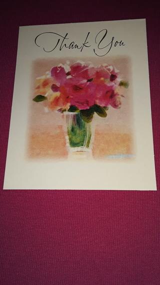 Thank You Notecards - Flower Vase