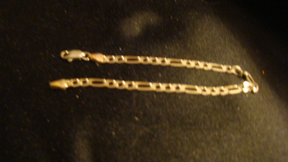 3 in one silver plated  bracelet