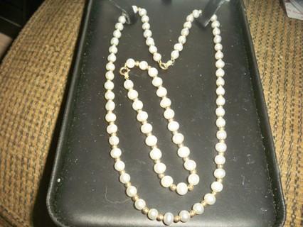 14k Genuine Pearl Set