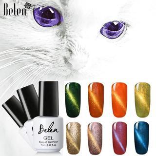 Belen Cat Eye Gel Nail Art Magnetic Soak Off Led UV Gel Nail Polish Magnetic Gel Lacquer 7ml Gel V