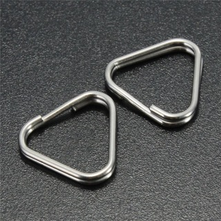 30PCs Metal Triangle Rings Split Camera Strap Hook Replacement Part