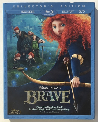 Disney Pixar Brave Collector's Edition 3-Disc Blu-ray / DVD Movie with Slipcover
