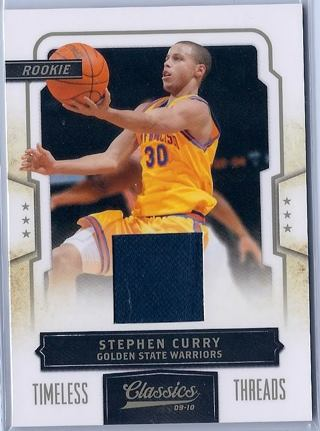 Free 177265 Stephen Curry 09 10 Classics Rc Jersey Card