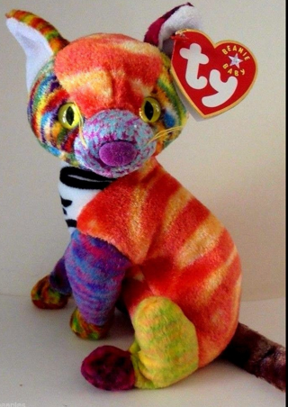 bb951139beb Free  TY BEANIE BABY KALEIDOSCOPE THE CAT ORIGINAL MINT ...