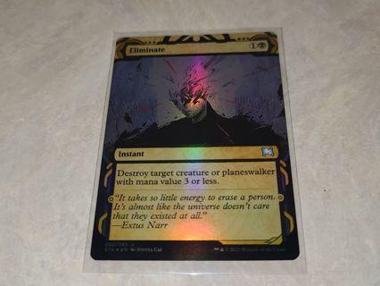 Magic the gathering mtg Eliminate foil card Strixhaven
