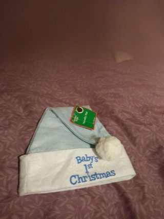 Baby's First Christmas Hat. NWT