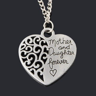 Mother Day Forever Lover Hollow Love Heart Pendant Necklace