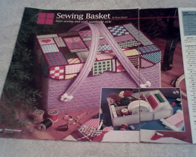 Free: plastic canvas sewing basket pattern - Other Craft Items ...