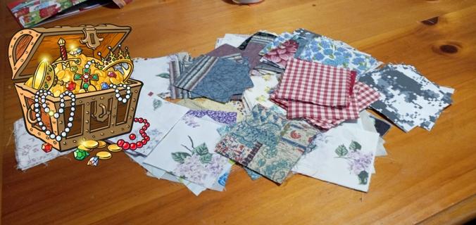 4 inch squares cotton blend 12 pieces