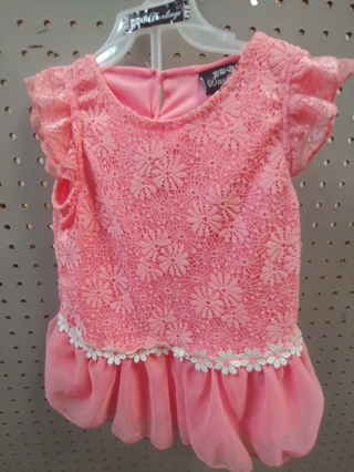 NWT! DDG-DARLINGS - Baby Girls 2 pc Set Size 12mths 100% polyester