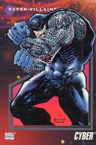 1992 Marvel Comic Trade Card: Cyber