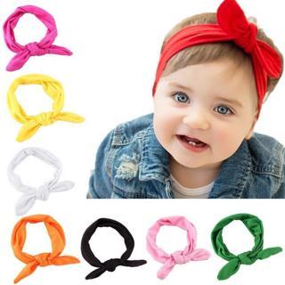 Baby Kids Girls Rabbit Bow Ear Hairband Headband Turban Knot Head Wraps