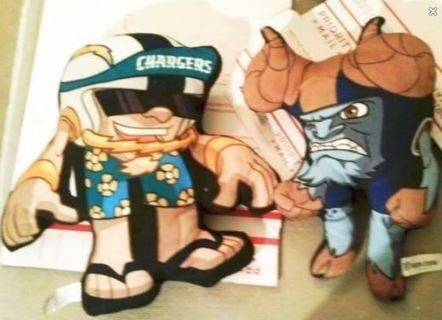 NFL Chargers RUSH ZONE Plush Dolls FREE SHIPPING