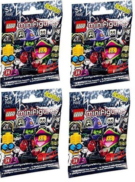 Free: LEGO Minifigures Series 14 Monsters Halloween 4 Random Unopened Packs - Building Toys ...