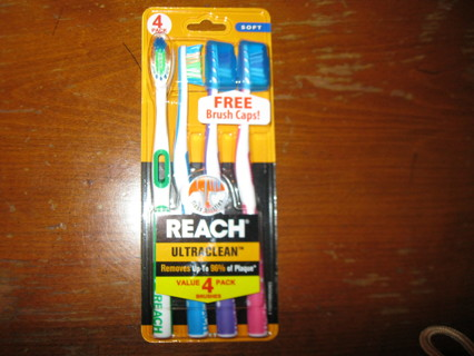 4 Toothbrushes/ New In Package!
