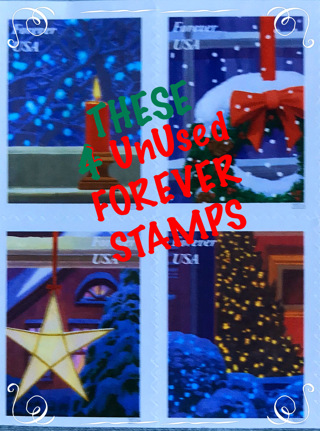 ✿4✿ New ✿Christmas ✿FOREVER✿ Stamps