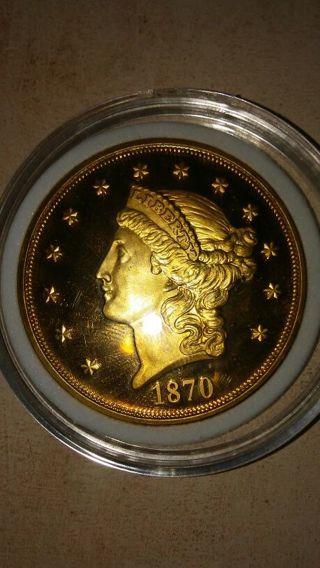 1870 $20 Gold Piece Copy Coin
