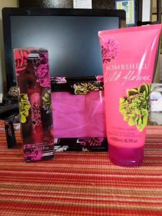 Victoria's Secret bombshell wildflower gift set.