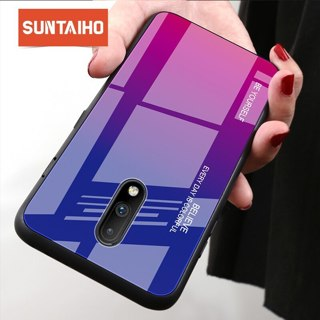 Suntaiho case For OnePlus 7 7Pro Tempered Glass Gradient Case one plus 1+7 1+6 Back Cover Case For