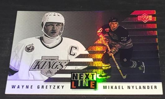 ✨ Wayne Gretzky / Michael Nylander 1993-94 Upper Deck Next In Line #NL1 KIngs ✨  Foil