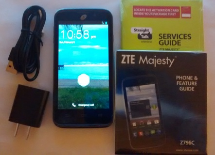 Free: Straight Talk ZTE Majesty 796C Prepaid Cell Phone