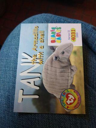 Beanie babies card - Tank