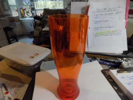 Orange acrylic Pilsner glass