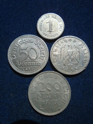 NAZI GERMANY & EMPIRE COINS 1917-1939 FULL DATES!