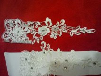 All lace wedding gloves